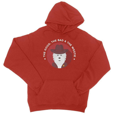The Good, The Bad and The Westie Hoodie Apparel kite.ly S Fire Red