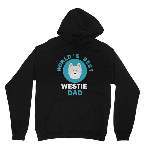 World's Best Westie Dad Hoodie Apparel kite.ly XS Black