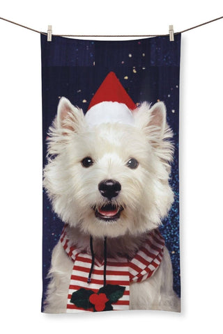 "Christmas Westie Towel Homeware kite.ly 31.5""x63.0"""