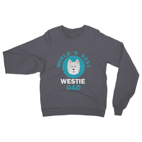 Image of World's Best Westie Dad Heavy Blend Crew Neck Sweatshirt Apparel kite.ly S Dark Heather