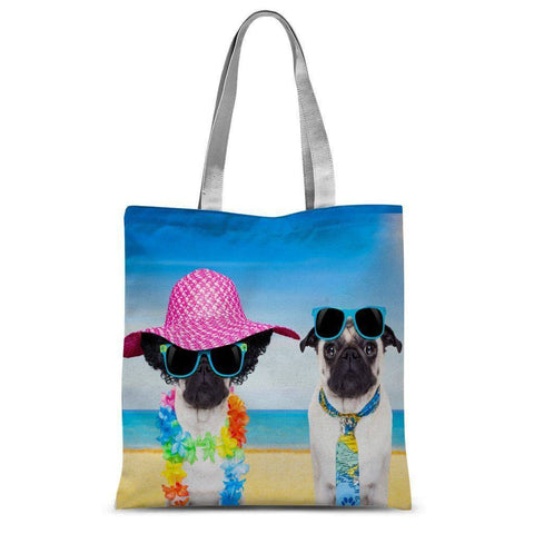 Pugs In Shades Sublimation Tote Bag