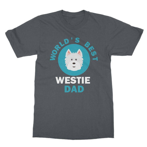 World's Best Westie Dad Tee Apparel kite.ly S Charcoal