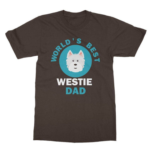 Image of World's Best Westie Dad Tee Apparel kite.ly S Dark Chocolate