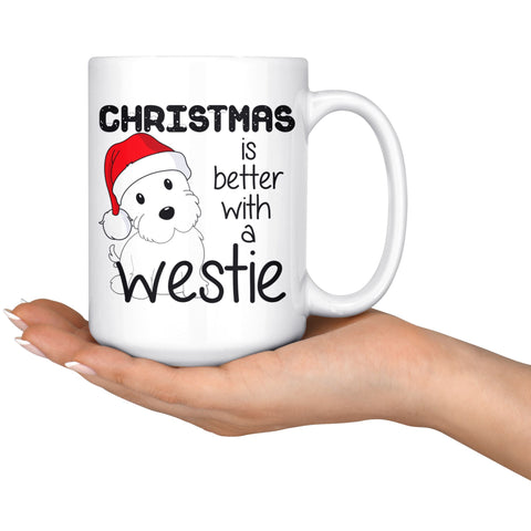 Christmas is better with a Westie Mug Drinkware teelaunch