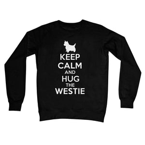 Keep Calm and Hug The Westie Crew Neck Sweatshirt Apparel kite.ly S Jet Black