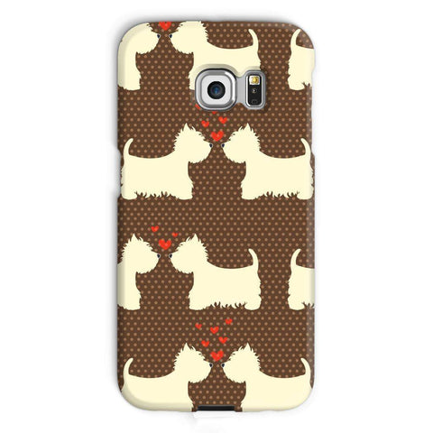 Image of Westies in Love Brown Phone Case Phone & Tablet Cases kite.ly Galaxy S6 Edge Snap Gloss