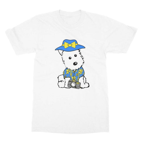 Summer Holiday Westie Softstyle T-shirt Apparel kite.ly S White