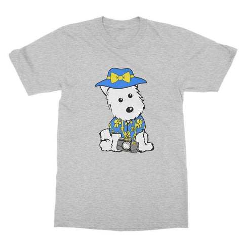 Image of Summer Holiday Westie Softstyle T-shirt Apparel kite.ly S Sports Grey