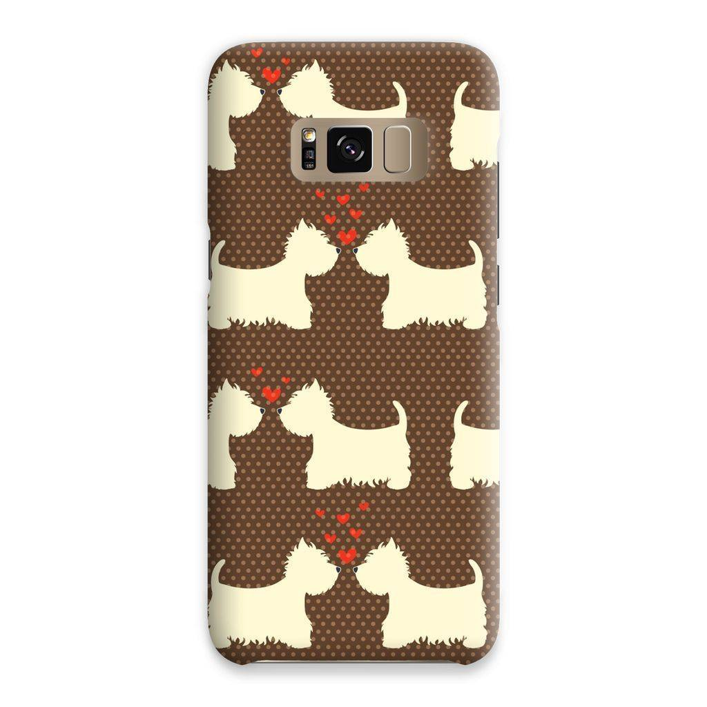 Westies in Love Brown Phone Case Phone & Tablet Cases kite.ly Samsung S8 Snap Gloss