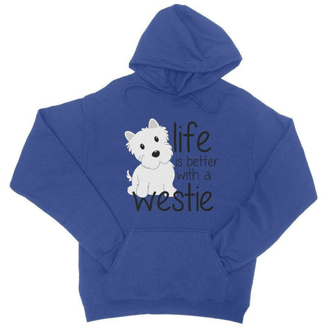 Image of Life is Better With a Westie College Hoodie Apparel kite.ly S Royal Blue