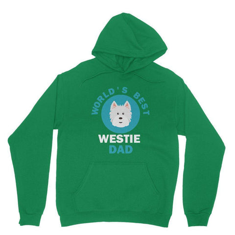 World's Best Westie Dad Hoodie Apparel kite.ly S Irish Green