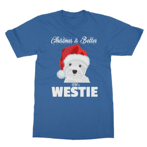 Christmas is better with a Westie Softstyle T-shirt Apparel kite.ly S Royal Blue