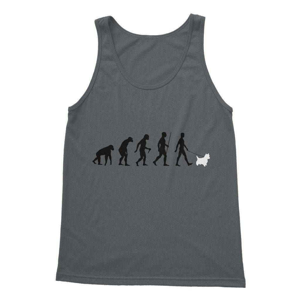 The Evolution Of Man And Westie Softstyle Tank Top