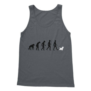 The Evolution Of Man And Westie Softstyle Tank Top Apparel kite.ly S Charcoal