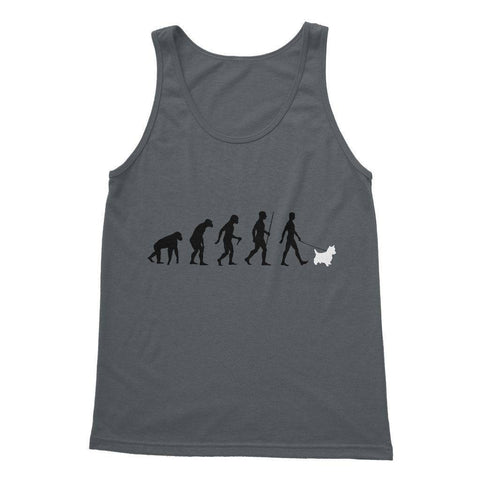 Image of The Evolution Of Man And Westie Softstyle Tank Top