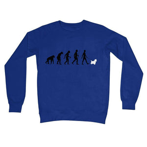 The Evolution Of Man And Westie Crew Neck Sweatshirt Apparel kite.ly S Royal Blue