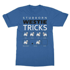 Stubborn Westie Tricks Softstyle T-shirt Apparel kite.ly S Royal Blue