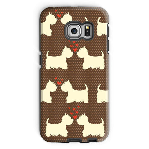 Image of Westies in Love Brown Phone Case Phone & Tablet Cases kite.ly Galaxy S6 Edge Tough Gloss