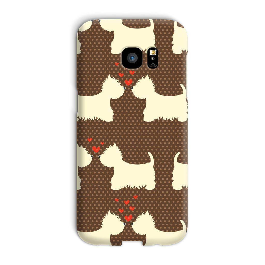 Westies in Love Brown Phone Case Phone & Tablet Cases kite.ly Galaxy S7 Edge Snap Gloss