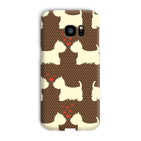 Image of Westies in Love Brown Phone Case Phone & Tablet Cases kite.ly Galaxy S7 Edge Snap Gloss