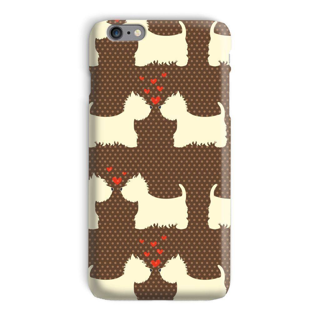 Westies in Love Brown Phone Case Phone & Tablet Cases kite.ly iPhone 6 Plus Snap Gloss