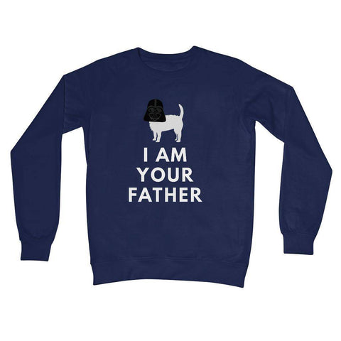 Darth Westie Father Crew Neck Sweatshirt Apparel kite.ly S New French Navy