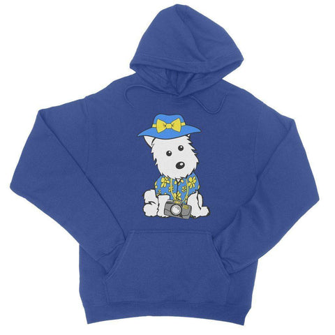 Image of Summer Holiday Westie College Hoodie Apparel kite.ly S Royal Blue