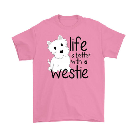 Life is Better With a Westie Softstyle T-shirt T-shirt teelaunch Gildan Mens T-Shirt Azalea S