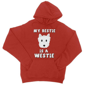 My Bestie is a Westie College Hoodie Apparel kite.ly S Fire Red