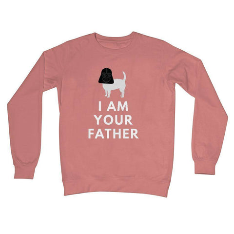 Darth Westie Father Crew Neck Sweatshirt Apparel kite.ly S Dusty Pink