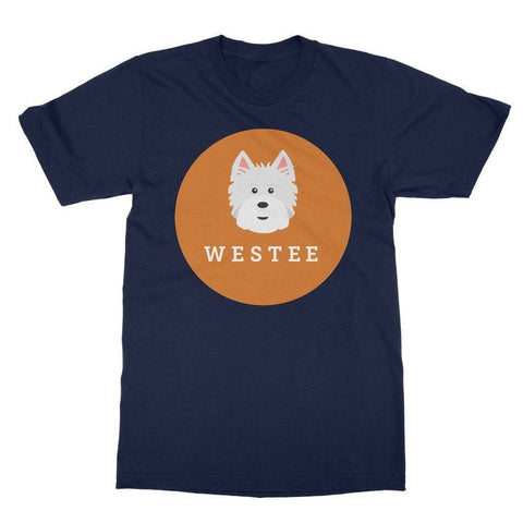Image of Westee Softstyle T-shirt Apparel kite.ly S Navy