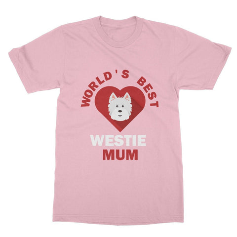 Image of World's Best Westie Mum Softstyle T-shirt Apparel kite.ly S Light Pink