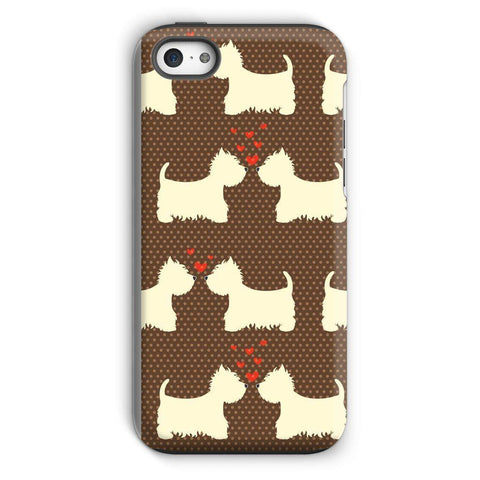 Image of Westies in Love Brown Phone Case Phone & Tablet Cases kite.ly iPhone 5c Tough Gloss