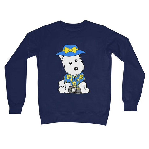 Summer Holiday Westie Crew Neck Sweatshirt Apparel kite.ly S New French Navy