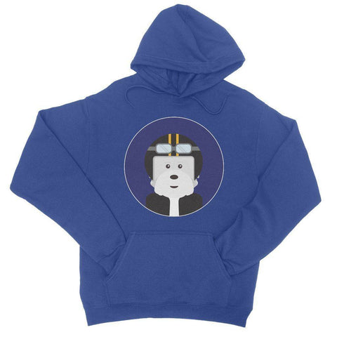Image of Westie Biker College Hoodie Apparel kite.ly S Royal Blue