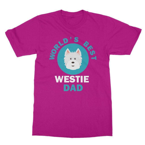 Image of World's Best Westie Dad Tee Apparel kite.ly S Heliconia