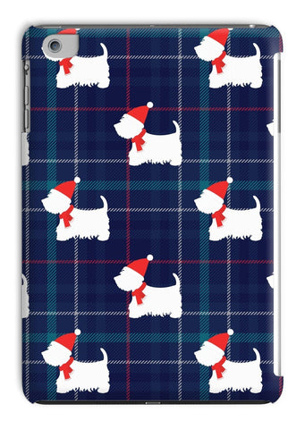 Image of Blue Tartan Westie in a Hat and Scarf Tablet Cases Phone & Tablet Cases kite.ly iPad Mini 1/2/3 Gloss