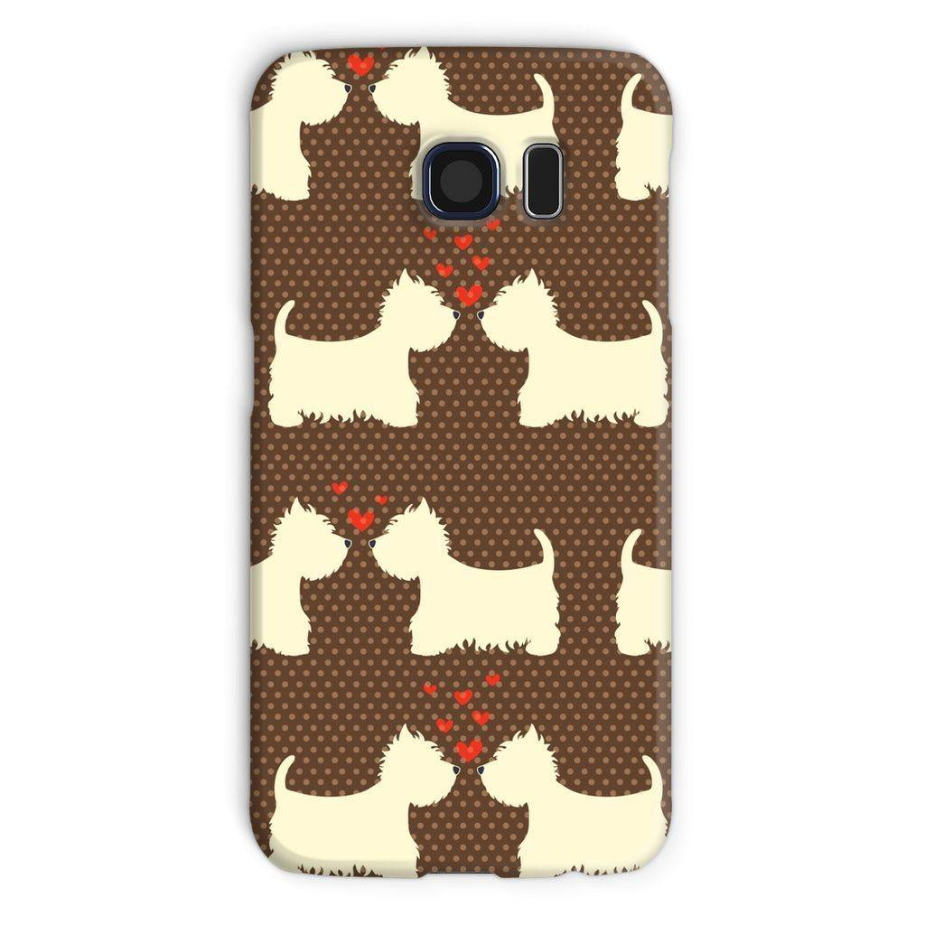 Westies in Love Brown Phone Case Phone & Tablet Cases kite.ly Galaxy S6 Snap Gloss