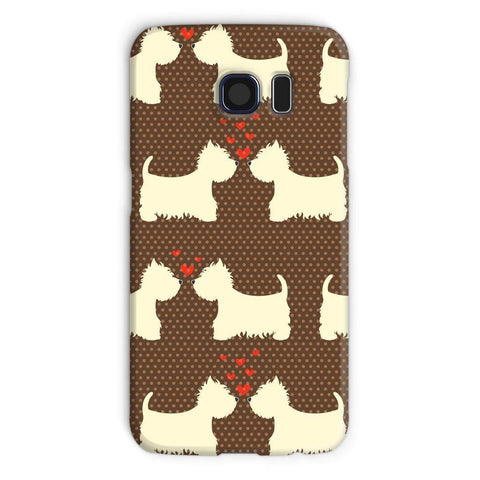 Image of Westies in Love Brown Phone Case Phone & Tablet Cases kite.ly Galaxy S6 Snap Gloss