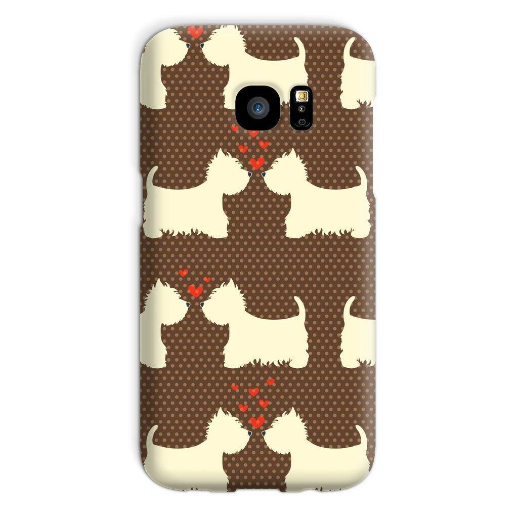 Westies in Love Brown Phone Case Phone & Tablet Cases kite.ly Galaxy S7 Snap Gloss