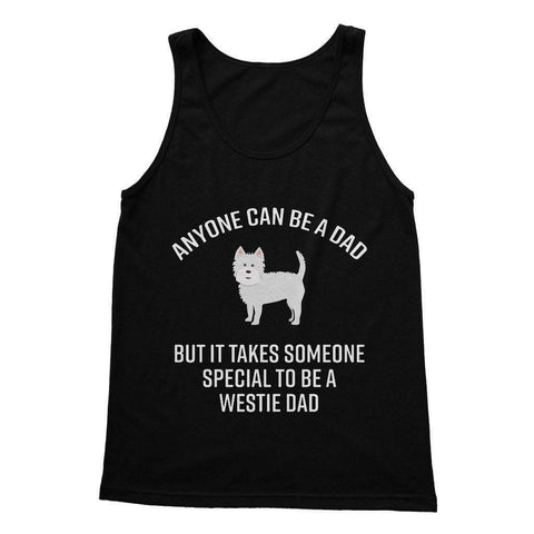 Special Westie Dad Softstyle Tank Top Apparel kite.ly S Black