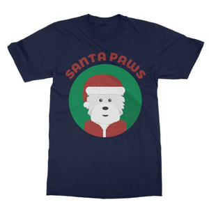 Santa Paws Softstyle T-shirt Apparel kite.ly S Navy