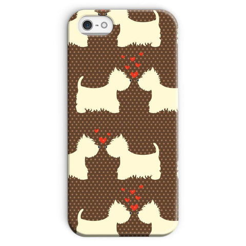 Image of Westies in Love Brown Phone Case Phone & Tablet Cases kite.ly iPhone SE Snap Gloss
