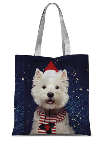 Christmas Westie Sublimation Tote Bag Accessories kite.ly