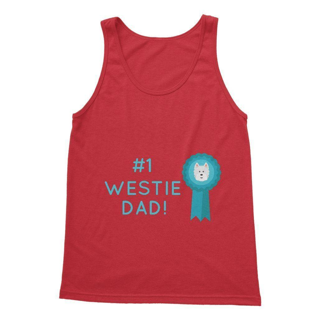 Number 1 Westie Dad Softstyle Tank Top