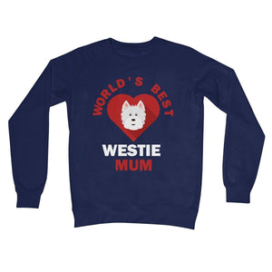 World's Best Westie Mum Crew Neck Sweatshirt Apparel kite.ly S New French Navy