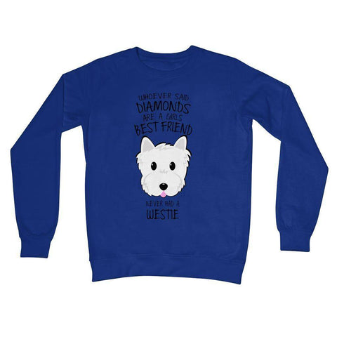 Whoever Said Diamonds Crew Neck Sweatshirt Apparel kite.ly S Royal Blue