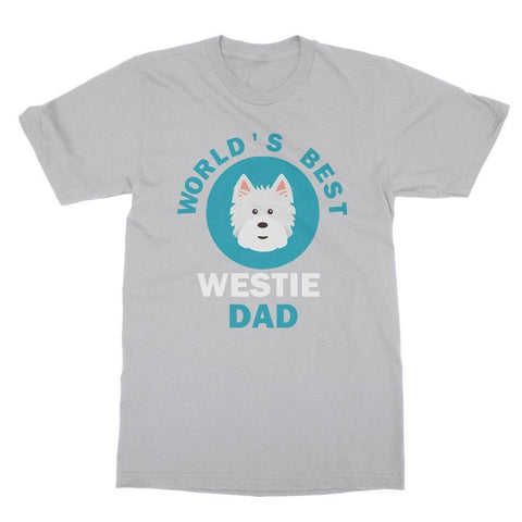 Image of World's Best Westie Dad Tee Apparel kite.ly S Sports Grey