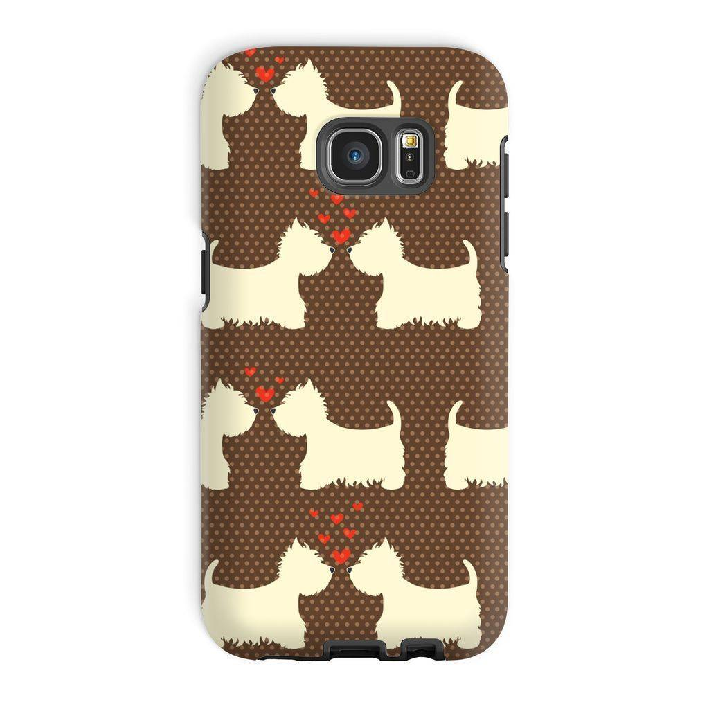 Westies in Love Brown Phone Case Phone & Tablet Cases kite.ly Galaxy S7 Edge Tough Gloss