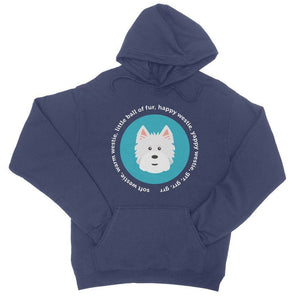Happy Westie - Big Bang Theory College Hoodie Apparel kite.ly S New French Navy
